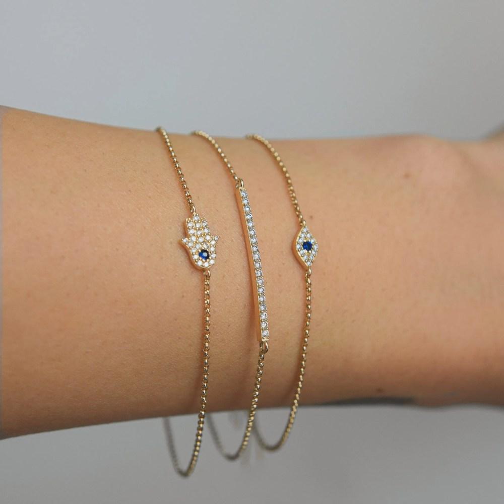 Diamond Mini Evil Eye Bracelet