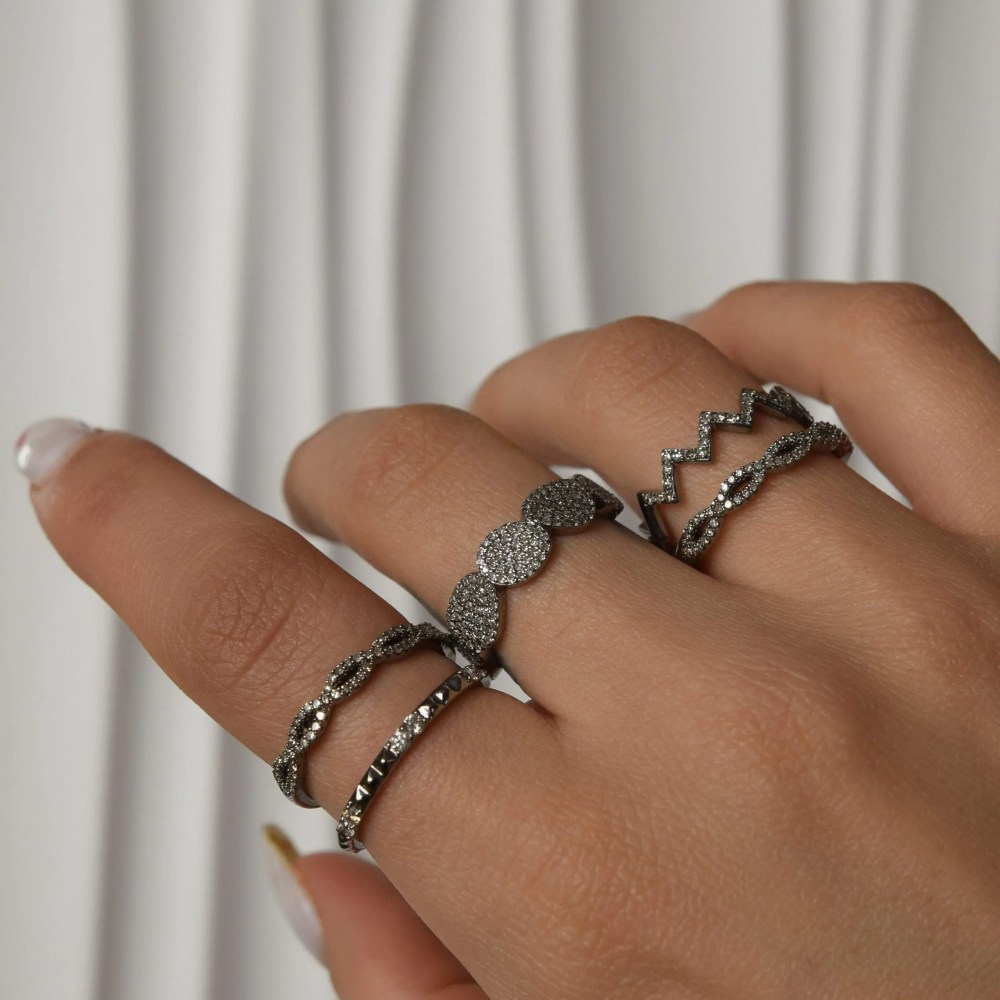 Diamond Twist Stacking Ring