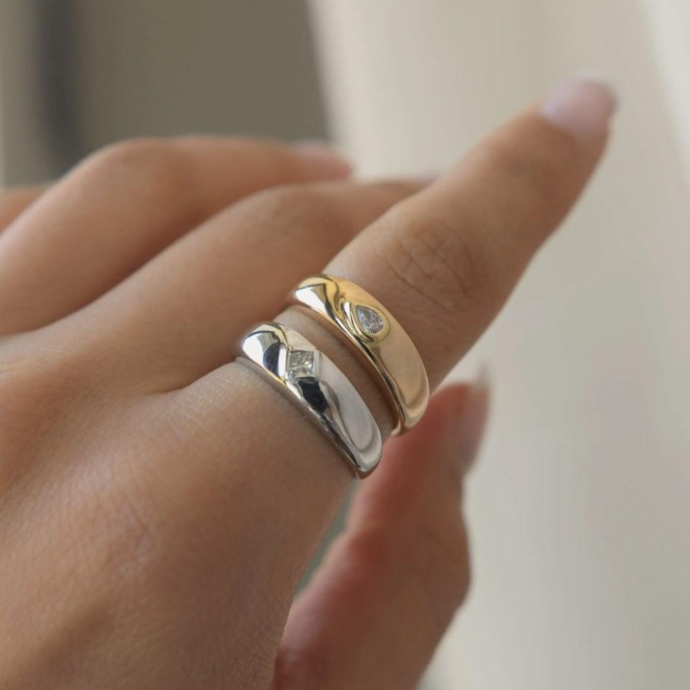 Diamond Dome Rings