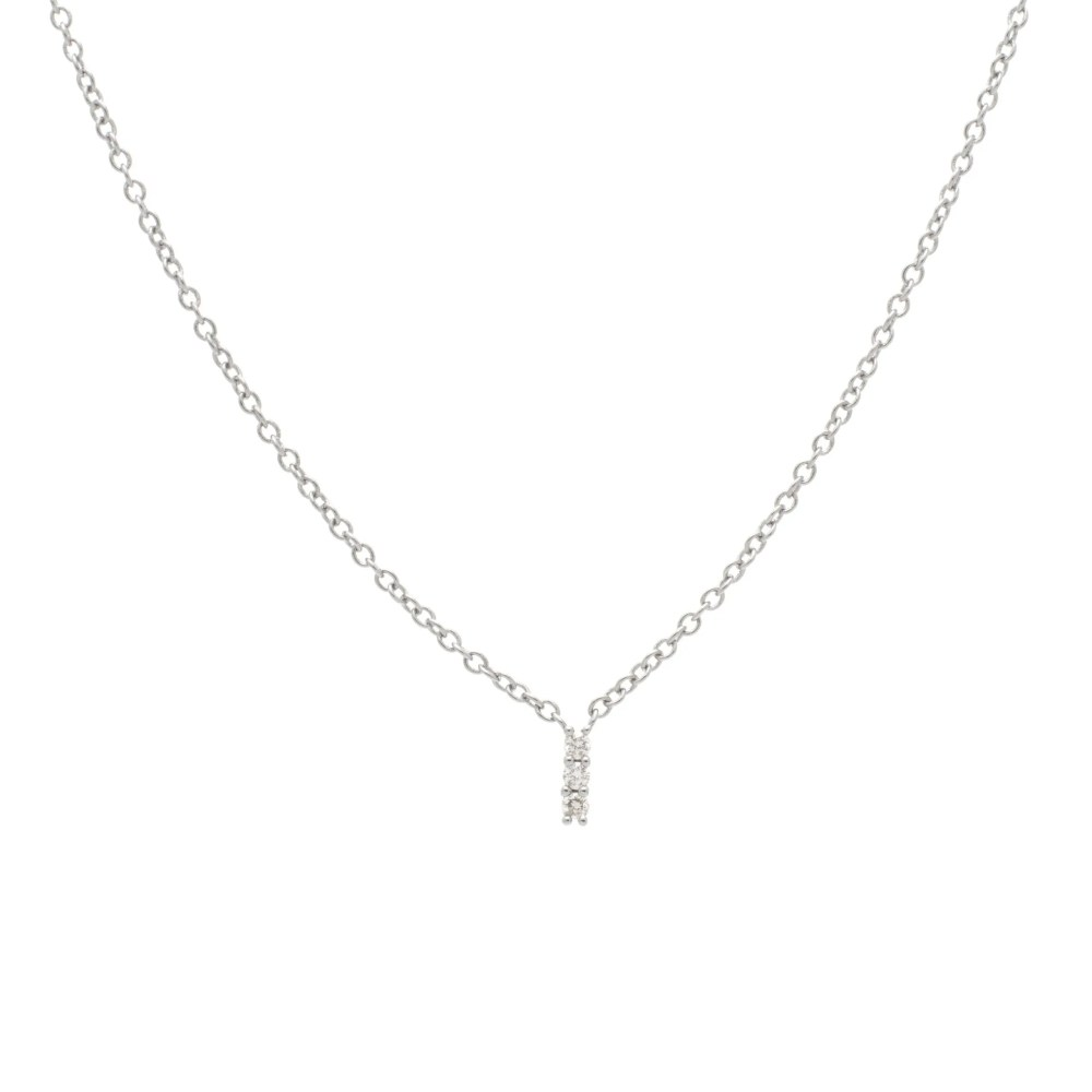 3 Diamond Necklace Sterling Silver