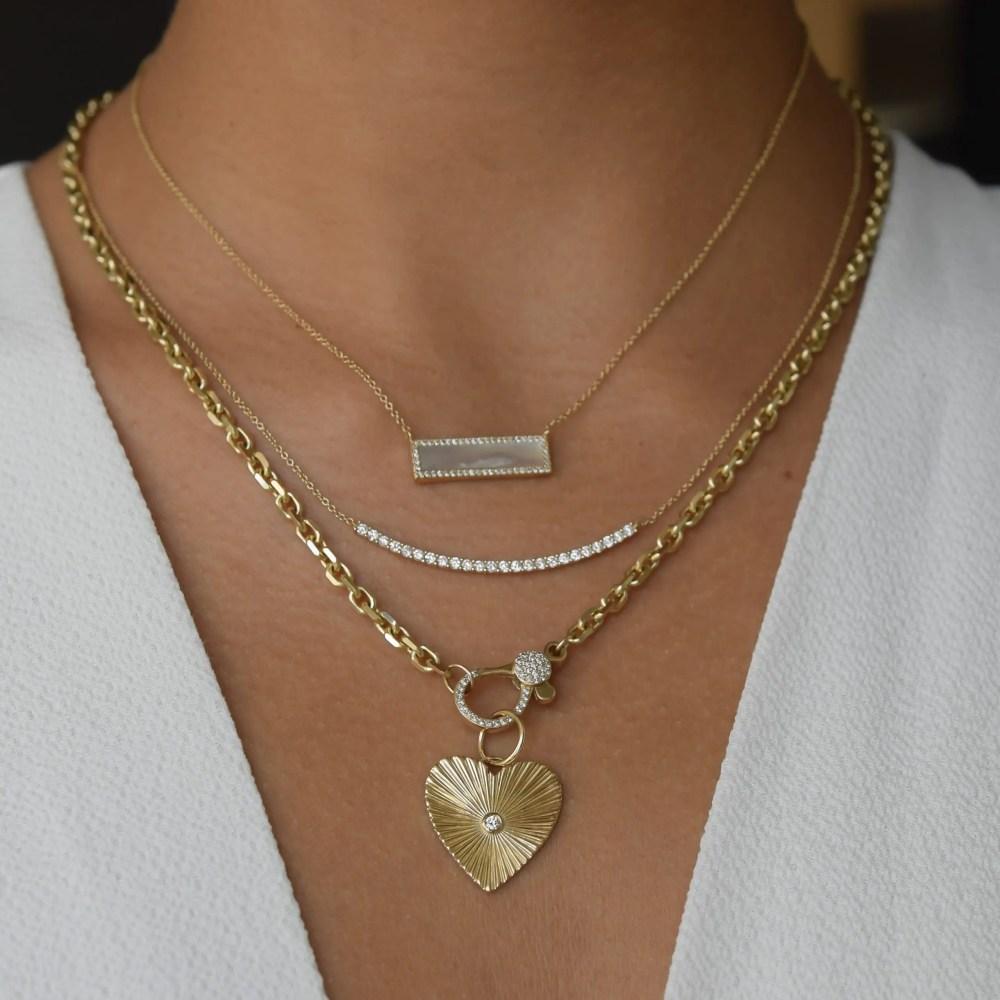 Diamond Cut Heart Charm