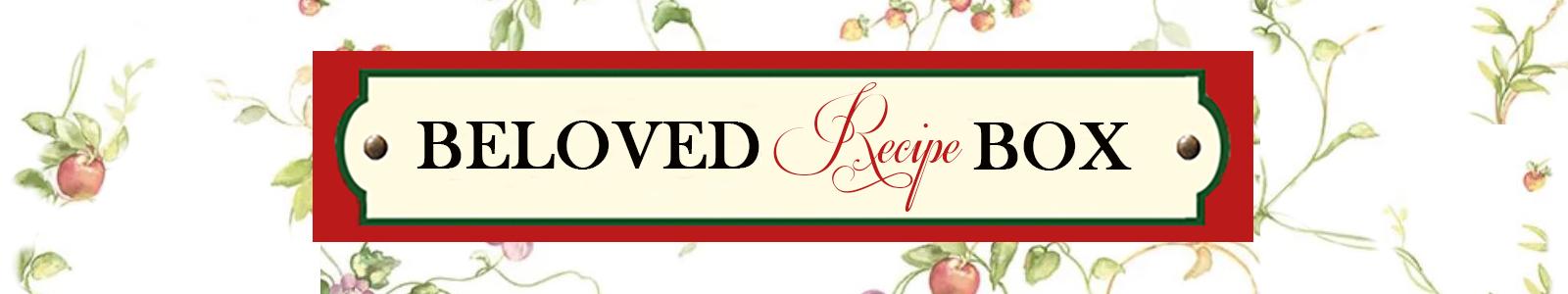 Beloved Recipe Box