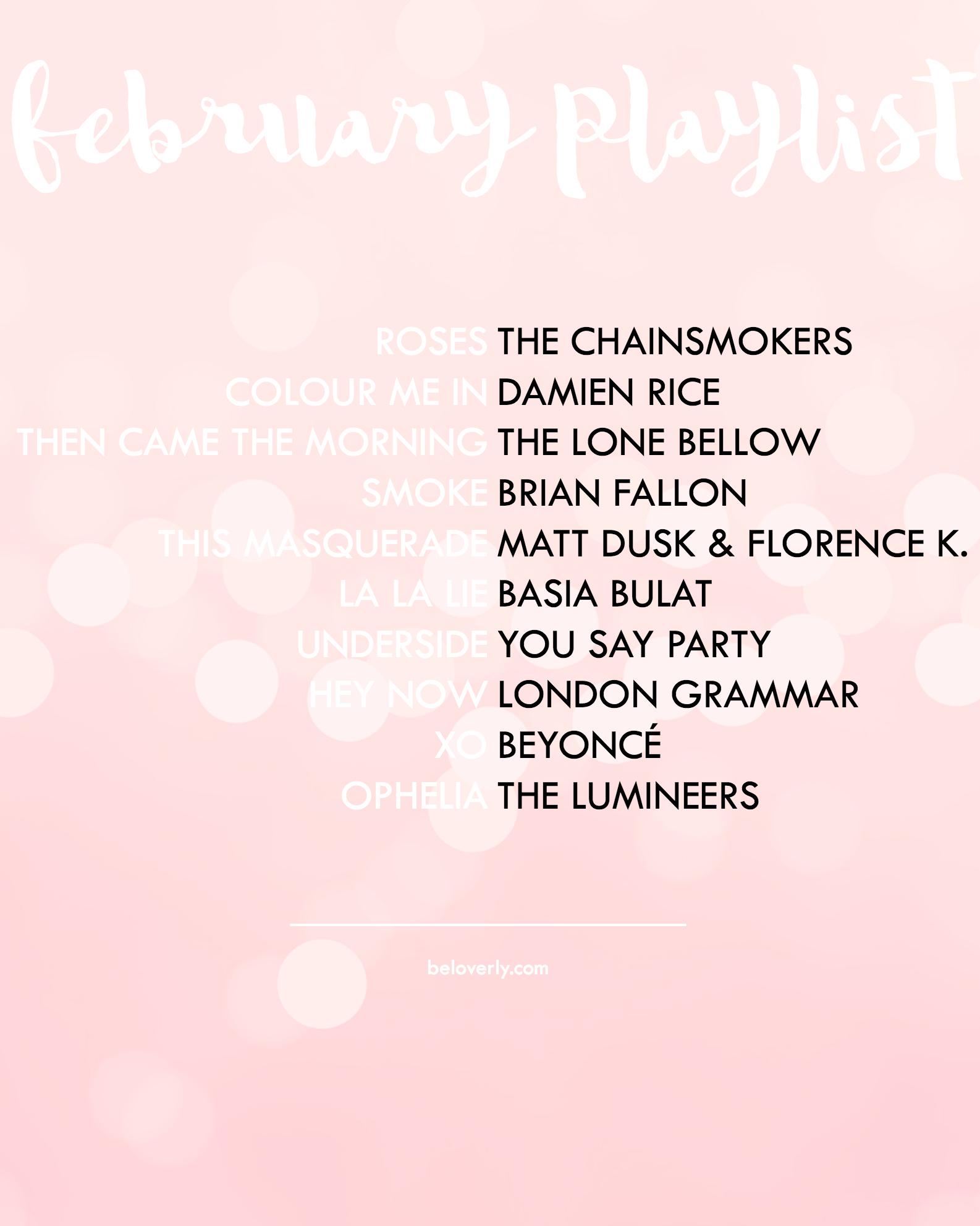 februaryplaylist2016