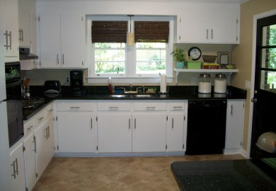 Black Kitchen Cabinets And Granite Countertops