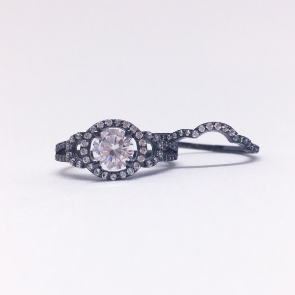 Charmed Aroma Black Gold Ring   Below Freezing Beauty