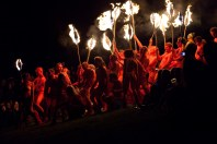 As ever, the Reds charge the procession bearing fire brands.... | Copyright Neil Hodgins for BFS. All rights reserved.