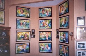 Inductee portraits are painted by renowned artist Wayland Moore, a Belton native