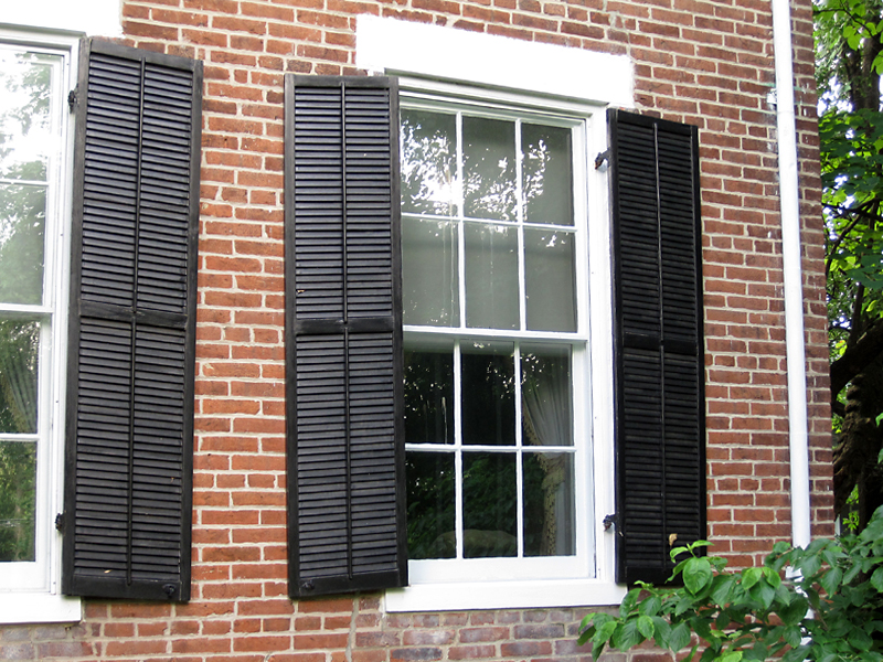 How To Install Exterior Window Shutters On Brick Home