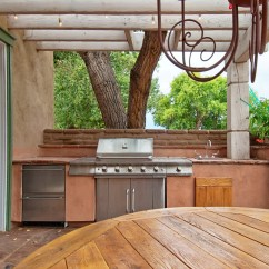 Outdoors Kitchen How Much For Cabinets With Built In Gas Grill On A Deck Beltway