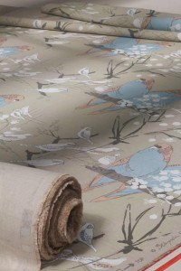 'Budgie' fabric by Belynda Sharples
