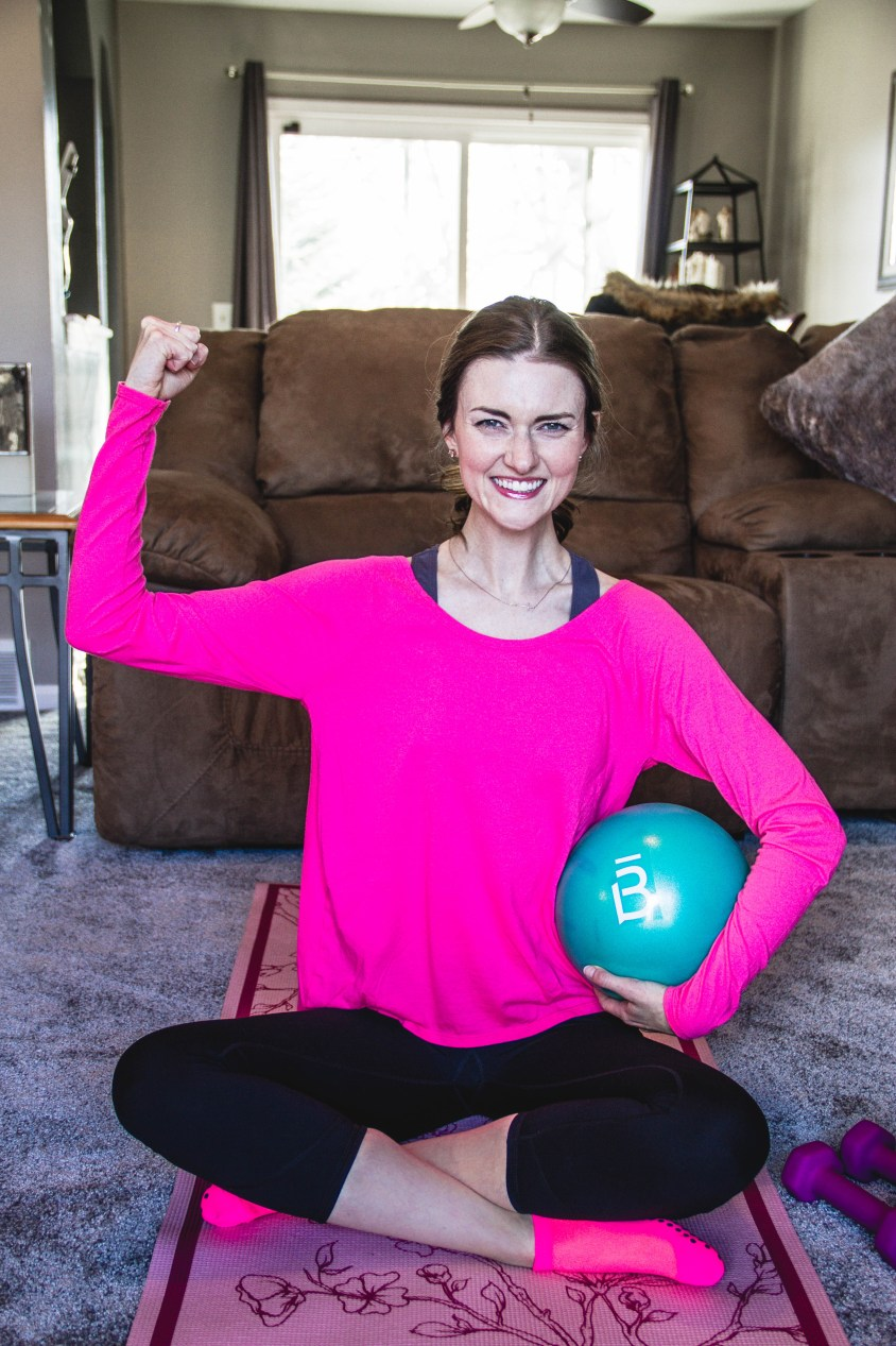 Barre3, workout, yoga mat, weights, healthy, active, happy, medicine ball
