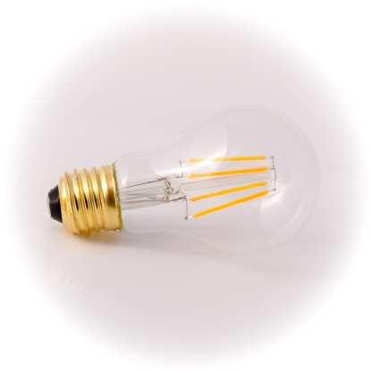 EDISON NORMAL KLAR LED E27 4W 280lm 2200K DIMBAR   Belysning.online