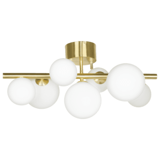 Molekyl taklampe 85 Cm 11 x G9 25W Matt messing/Hvit | Belysning.online