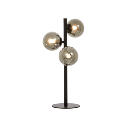 Molekyl bordlampe 3 x G9 25W Sort/Røk | Belysning.online