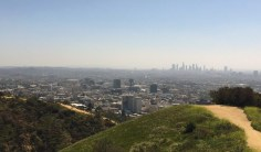 Beautiful Los Angeles views from the top of Runyon Canyon - one of the best hikes in LA