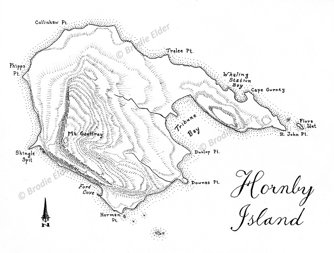 Hand Drawn Maps of Hornby Island – Map Portfolio