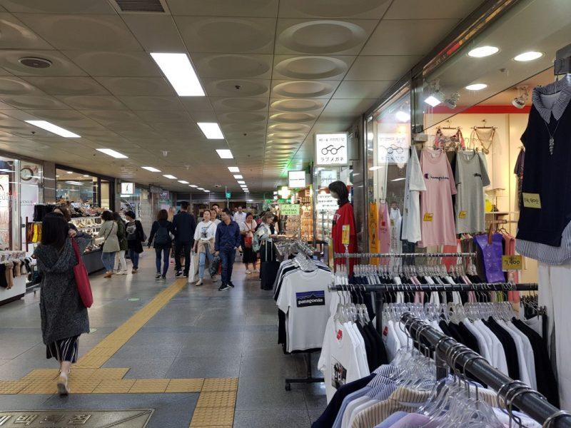myeongdong underground shopping