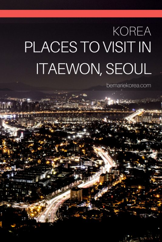 itaewon at night seoul south korea