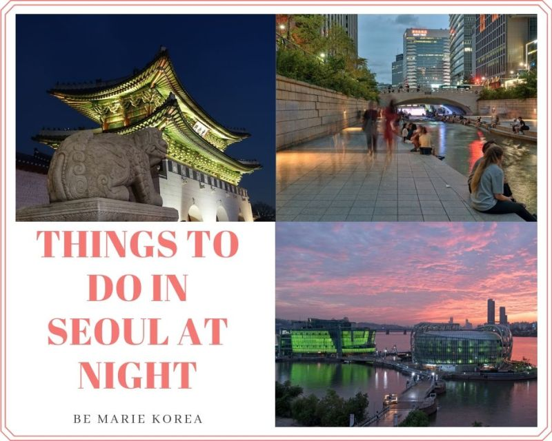 things to do at night in seoul