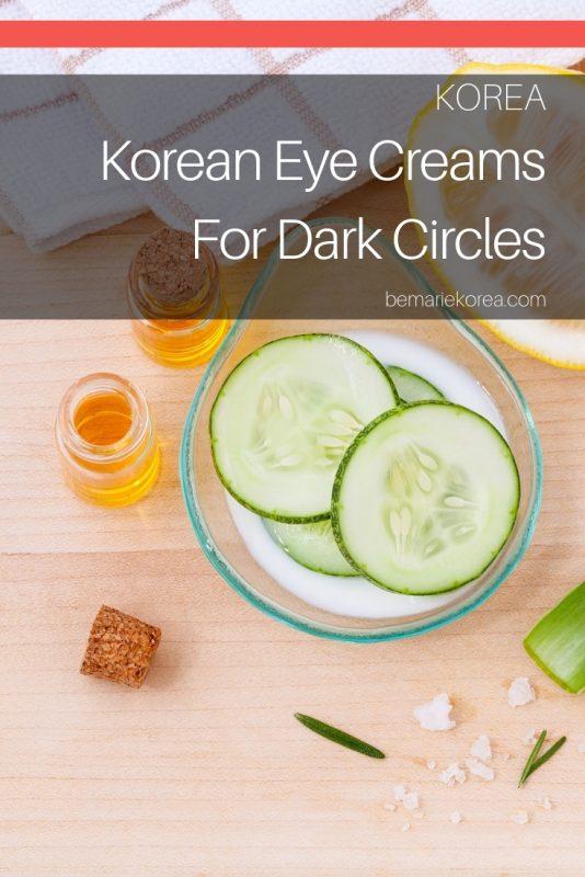 best eye cream for dark circles korean