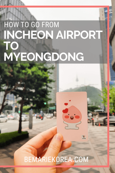 incheon airport to myeongdong bus fare