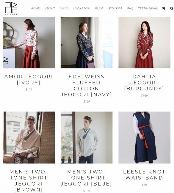 modern korean clothing