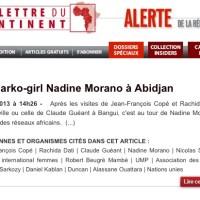 Le discret séjour de Nadine Morano en Afrique...