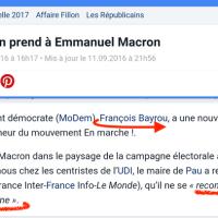 François #Bayrou connecté à #Macron: Le Modem a fait «bip bip!». Ce qu'il disait avant ...