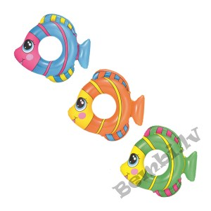 "Bestway - 32"" x 30""/81cm x 76cm Friendly Fish Swim Ring"