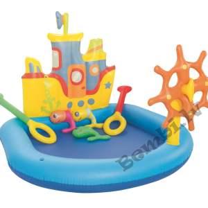"Bestway - 55"" x 51"" x 41""/1.40m x 1.30m x 1.04m Tug Boat Play Pool"