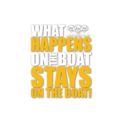 Stays on the boat!
