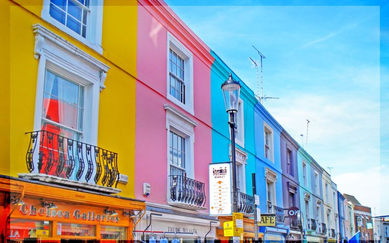 Passeio Low Cost em NOTTING HILL