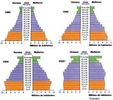 Estrutura etária da população