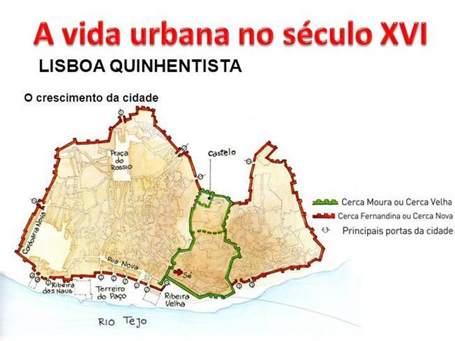 Ficha de Trabalho – A vida urbana do século XVI – Lisboa Quinhentista (2) – Soluções