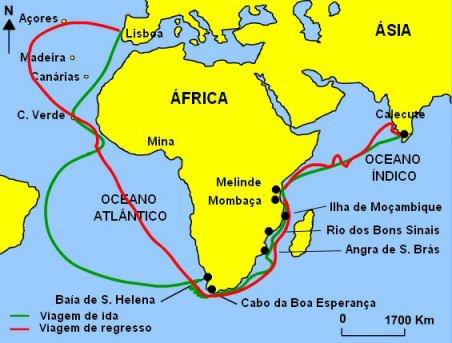 De Portugal às Ilhas Atlânticas e ao Cabo da Boa Esperança
