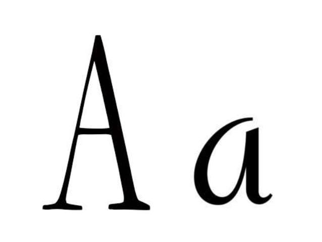 Grafismos e grafemas da letra a
