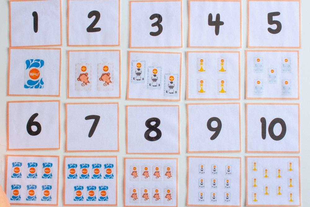 Ordenar números de 0 a 10