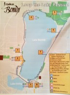 Map of the route we took around Lake Bemidji