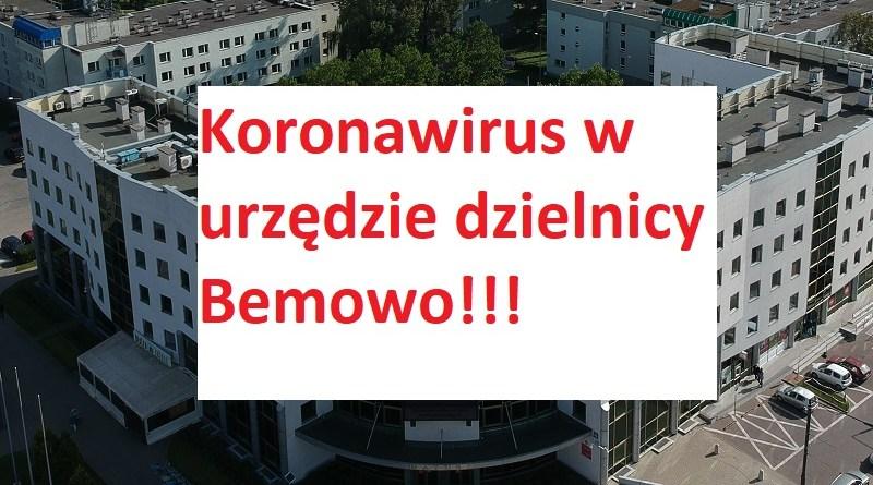 Koronawirus w urzędzie dzielnicy Bemowo