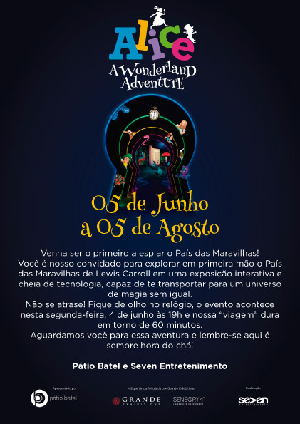 """Alice – A Wonderland Adventure"" chega ao Pátio Batel"