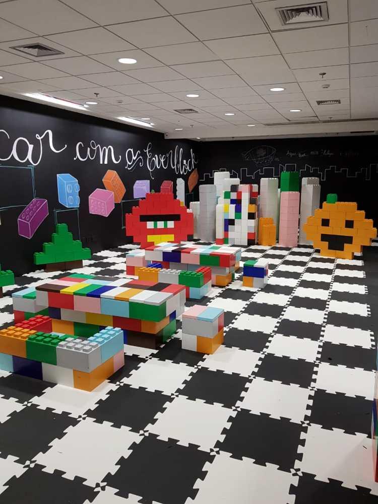 De evento à decoração, blocos modulares são tendência
