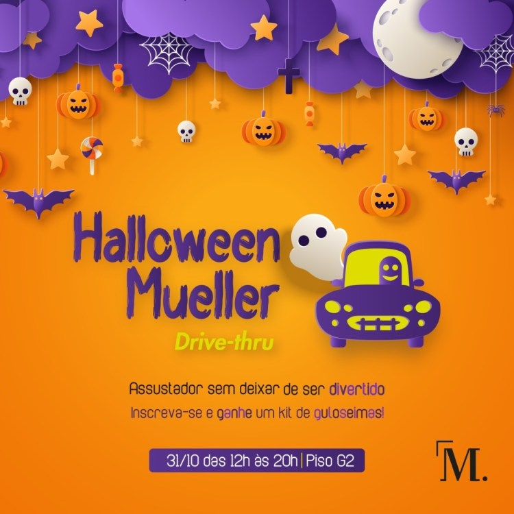 Shopping Mueller comemora o Halloween no estilo drive thru