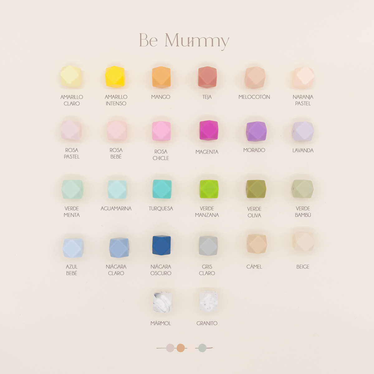 Carta colores Chupeteros Personalizados Be Mummy