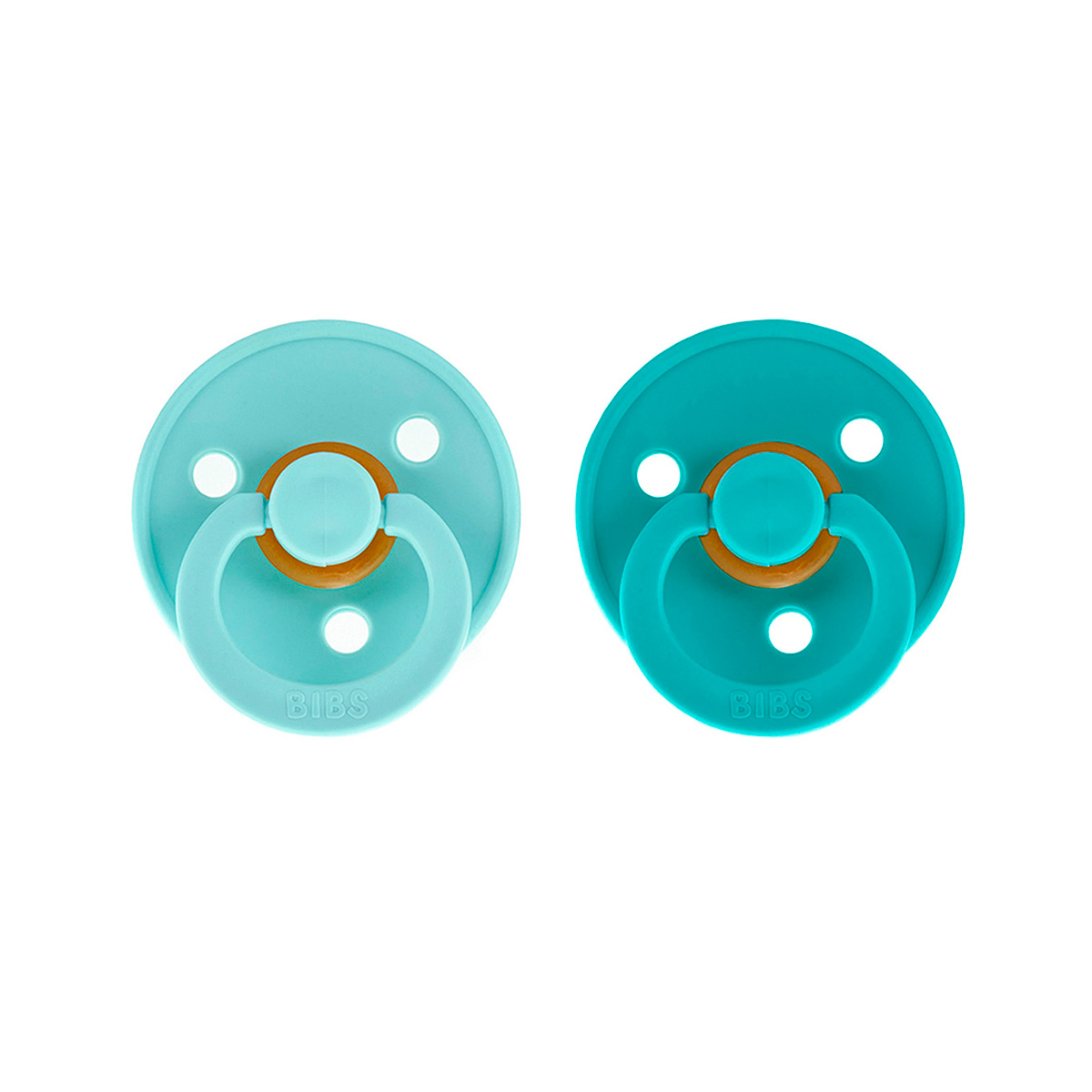 Pack 2 Chupetes Bibs Mint/Turquoise