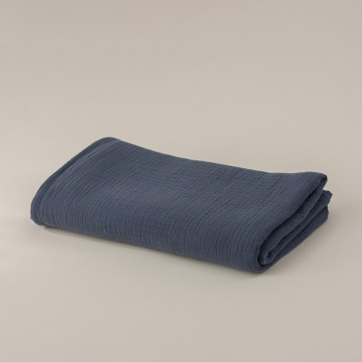 Muselina grande Algodón Orgánico Cotton Pleasures Azul
