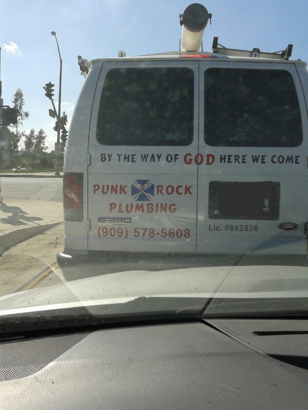punk rock plumbing from God