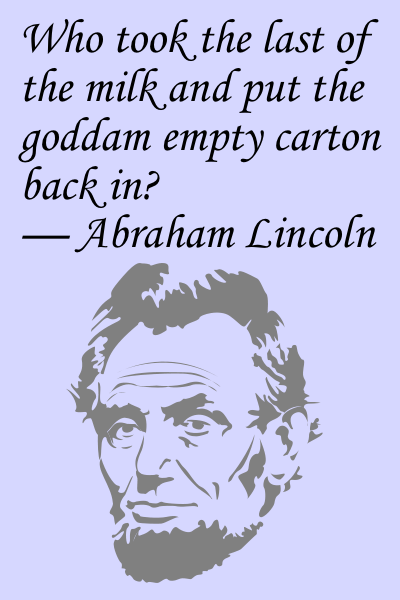 lincoln speaks