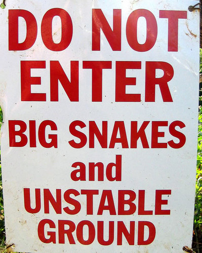 Big Snakes and Unstable Ground
