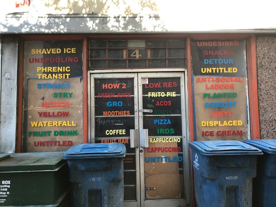 Storefront offering everything including shaved ice and phrenic transit