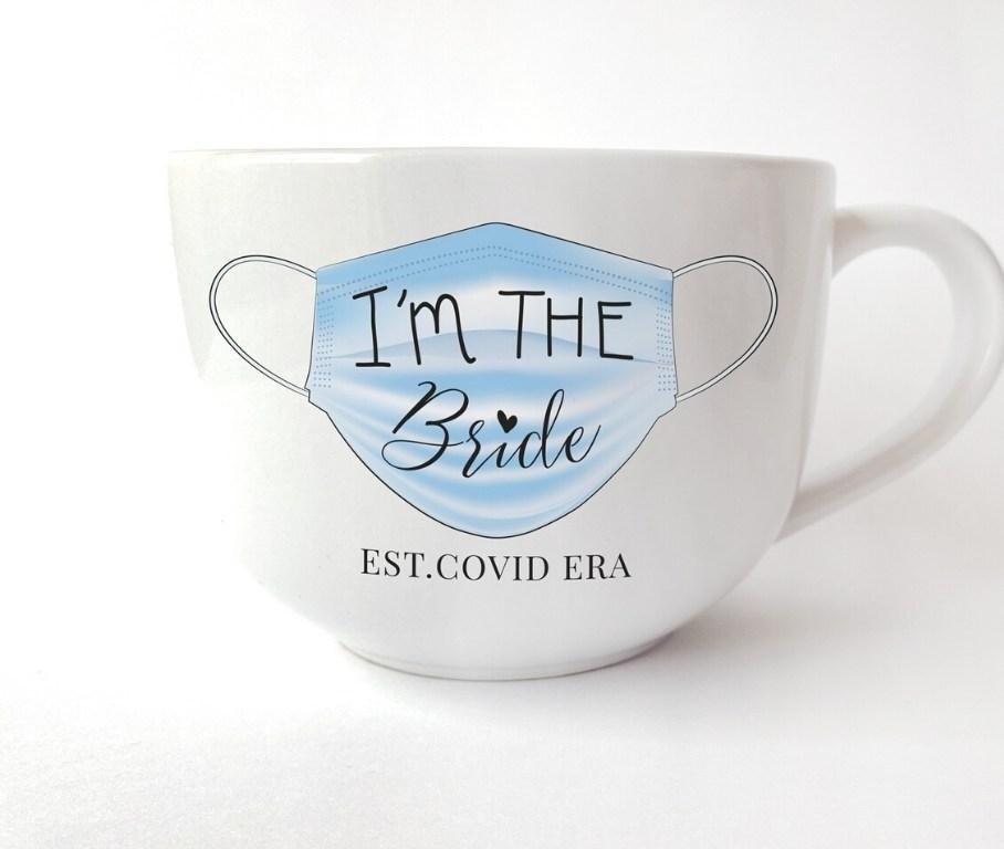 CovidBride Mug con suficiente café nada es imposible